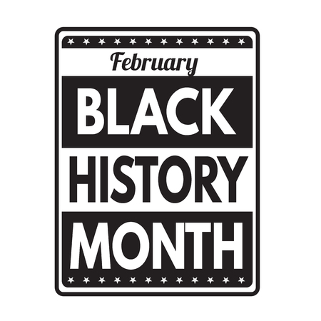 social history: Black history month grunge rubber stamp on white background, vector illustration