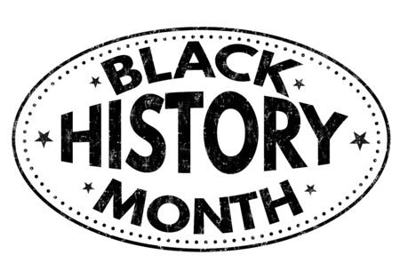 african americans: Black history month grunge rubber stamp on white background, vector illustration