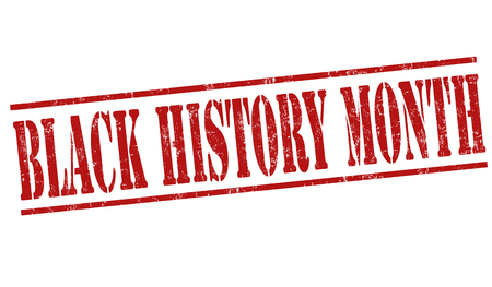 history month: Black history month grunge rubber stamp on white background, vector illustration
