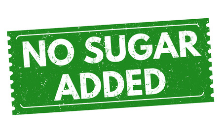 No sugar added grunge rubber stamp on white background, vector illustration Ilustração