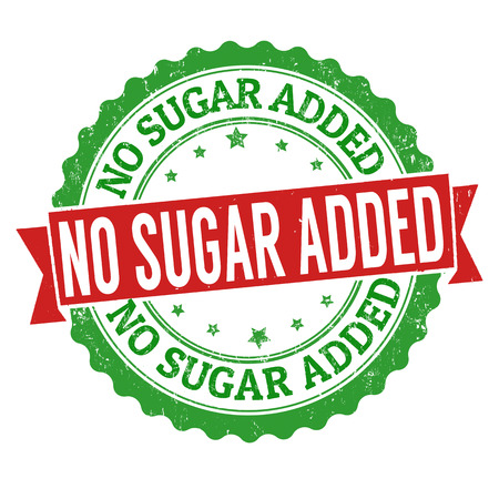 white sugar: No sugar added grunge rubber stamp on white background, vector illustration Illustration