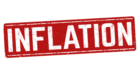 budgetary: Inflation grunge rubber stamp on white background, vector illustration