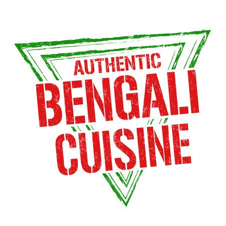 bengal: Bengali cuisine grunge rubber stamp on white background, vector illustration