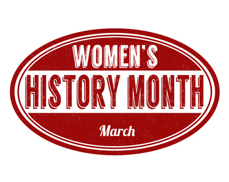 Womens history month grunge rubber stamp on white background, vector illustration Illustration