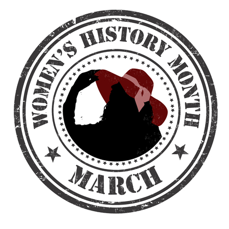 Womens history month grunge rubber stamp on white background, vector illustration Illustration