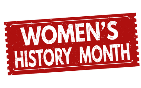 Women's history month grunge rubber stamp on white background, vector illustration Stock Vector - 72571623