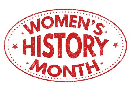 Frauen-Geschichte Monat Grunge-Stempel auf weißem Hintergrund, Vektor-Illustration Vektorgrafik