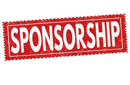 Sponsorship grunge rubber stamp on white background, vector illustration Illustration