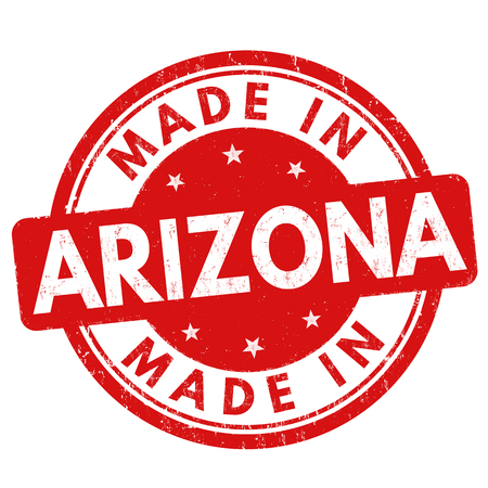 certificated: Made in Arizona grunge rubber stamp on white background, vector illustration Illustration