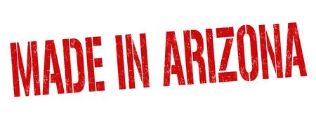 poststempel: Made in Arizona Grunge Stempel auf weißen Hintergrund, Vektor-Illustration