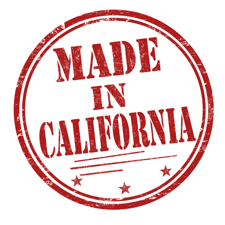 sign in: Made in California sign or stamp on white background, vector illustration Illustration