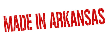 Made in Arkansas sign or stamp on white background, vector illustration