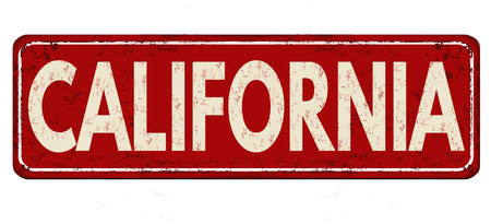 California vintage rusty metal sign on a white background, vector illustration 일러스트