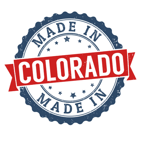 Made in Colorado sign or stamp, vector illustration Stok Fotoğraf