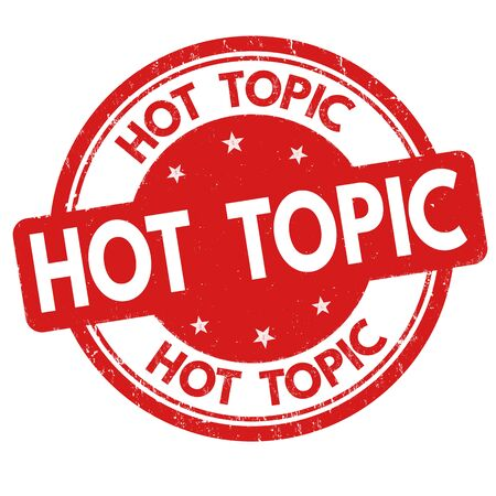 Hot Topic Sign Or Stamp On White Background Vector Illustration