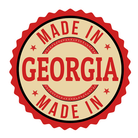 produced: Made in Georgia sign or stamp, vector illustration Illustration