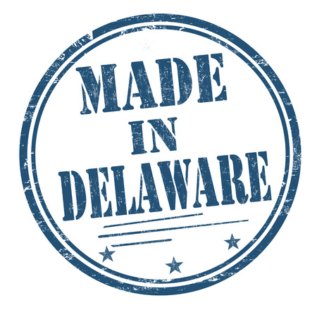 produced: Made in Delaware sign or stamp, vector illustration
