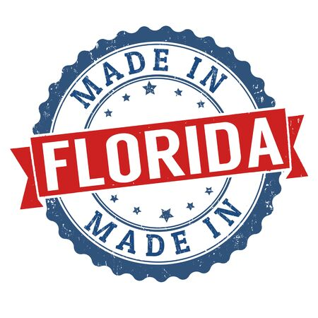 sign in: Made in Florida sign or stamp, vector illustration Stock Photo