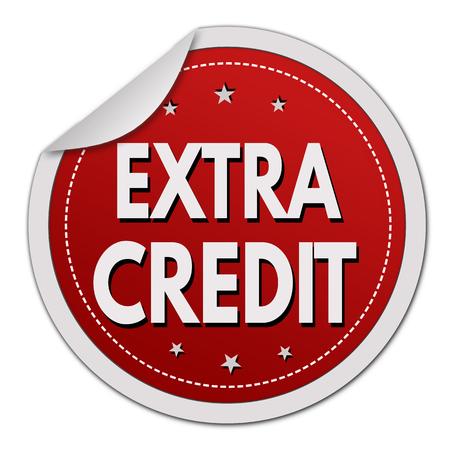 Extra credit grunge rubber stamp on white background, vector illustration