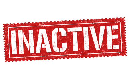 inactive: Inactive  grunge rubber stamp on white background, vector illustration