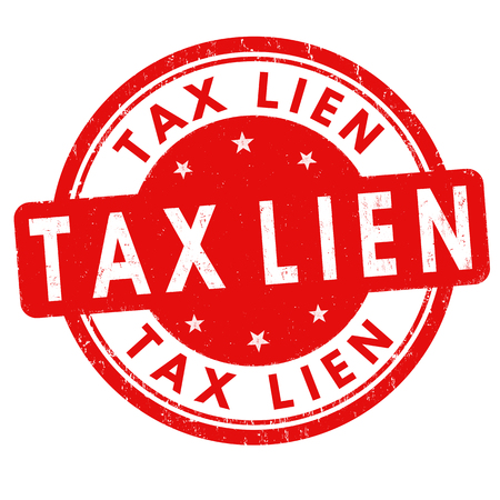 Tax lien grunge sign or stamp on white background, vector illustration
