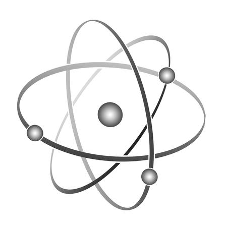 Atom symbol on white background, vector illustration