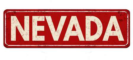 Nevada vintage rusty metal sign on a white background, vector illustration