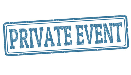 affairs: Private event sign or stamp on white background, vector illustration