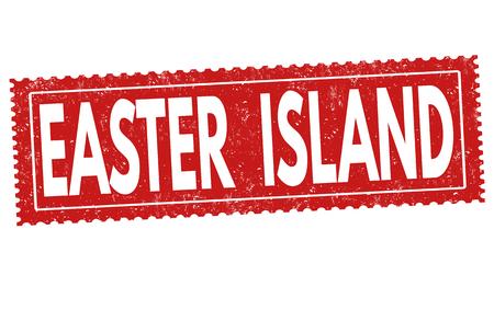 easter island: Easter island sign or stamp on white background, vector illustration Illustration