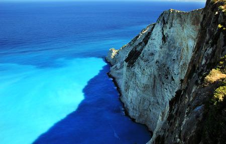 ionian: Blue lagoon of Navagio Beach in on Zakynthos island, Greece