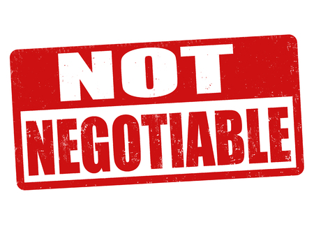 Not negotiable sign or stamp on white background, vector illustration Illustration
