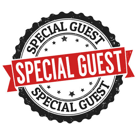 Special guest sign or stamp on white background, vector illustration