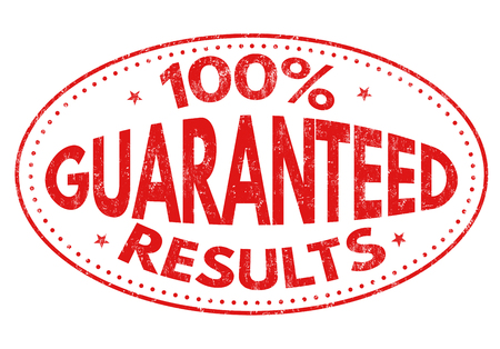 100%  Guaranteed results grunge rubber stamp on white background, vector illustration Illustration