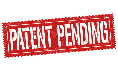 inventing: Patent pending sign or stamp on white background, vector illustration