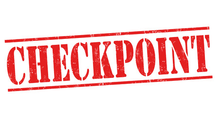 Checkpoint sign or stamp on white background, vector illustration