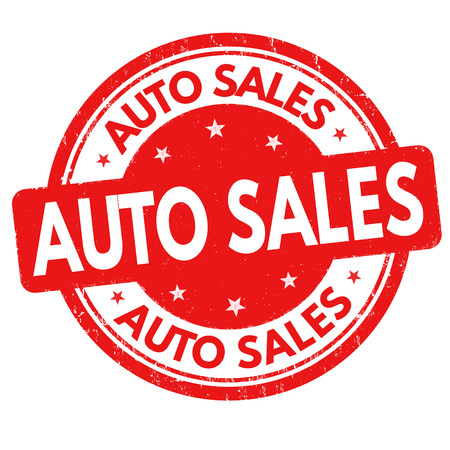 Auto sales sign or stamp vector illustration  イラスト・ベクター素材
