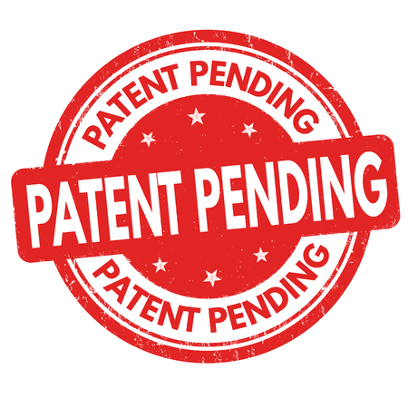 Patent pending sign or stamp vector illustration