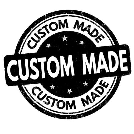 Custom made sign or stamp on white background, vector illustration