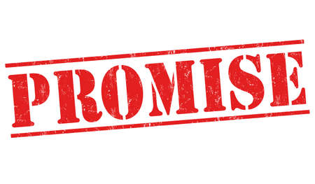 Promise sign or stamp on white background, vector illustration