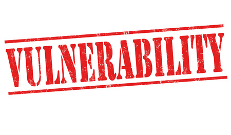 Vulnerability sign or stamp on white background, vector illustration Illustration