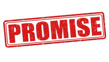 Promise sign or stamp on white background, vector illustration