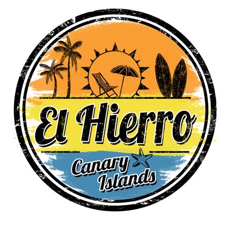 El Hierro grunge stamp on white background, vector illustration