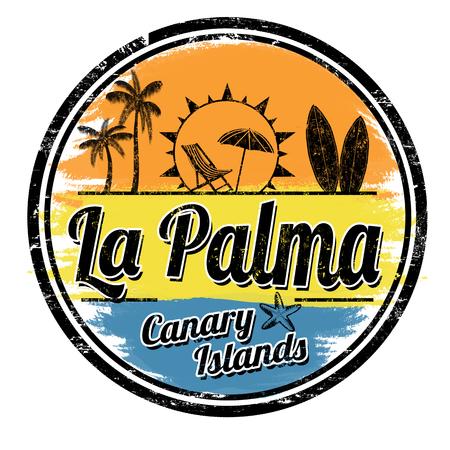 La Palma grunge stamp on white background, vector illustration Ilustração