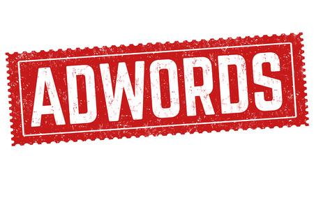 Adwords sign or stamp on white background, vector illustration Illustration