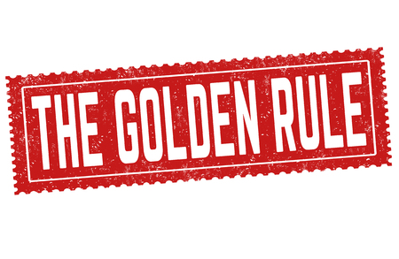 The golden rule sign or stamp on white background, vector illustration Illustration