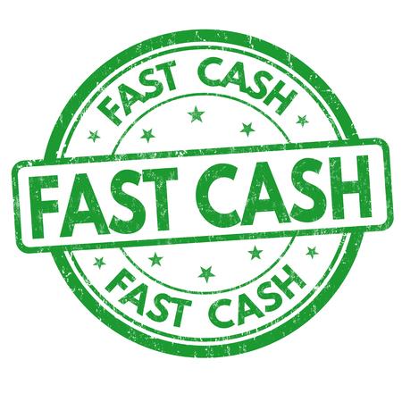 hurried: Fast cash sign or stamp on white background, vector illustration Illustration