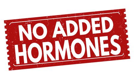 No added hormones sign or stamp on white background, vector illustration