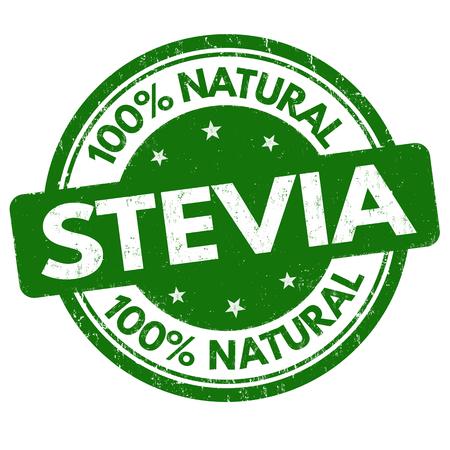 Stevia sign or stamp on white background, vector illustration