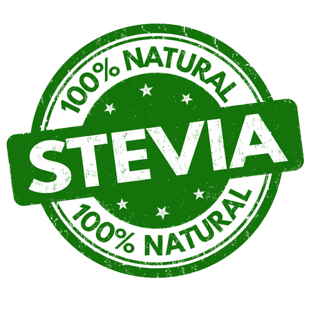 Stevia sign or stamp on white background, vector illustration