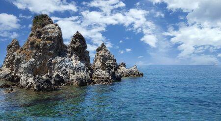 paleokastritsa: Beautiful view of the rocks on Paleokastritsa, Corfu island, Greece